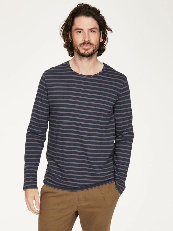 Thought pánské tričko s konopím manule modro-šedé