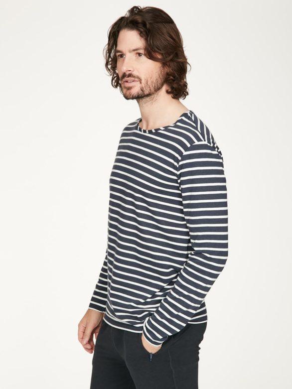 Thought pánské tričko s konopím manule modro-bílé