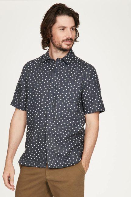 Thought pánská košile z konopí domenico