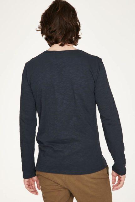 Thought pánské tričko s dlouhým rukávem z bio bavlny modré
