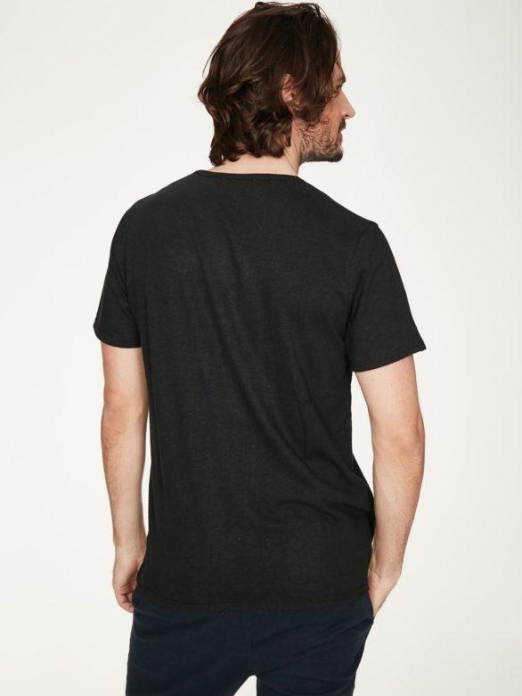 Thought pánské tričko s konopím samuele černé