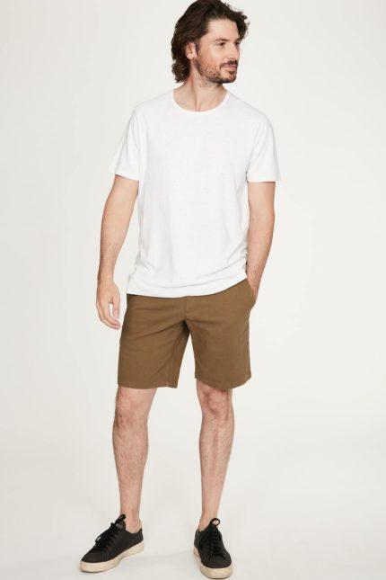Thought pánské tričko s konopím samuele bílé