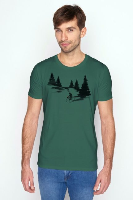 Greenbomb tričko z bio bavlny nature bear romantic zelené