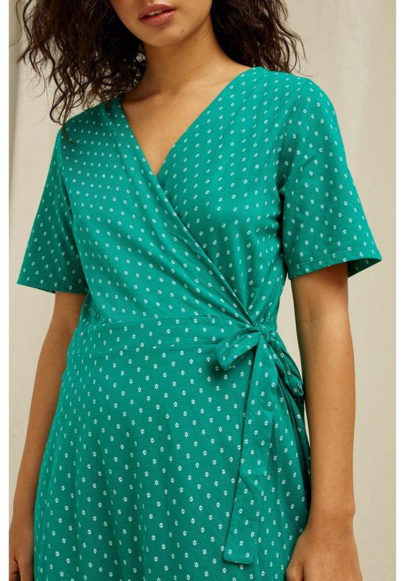 People Tree zavinovací šaty ria motif