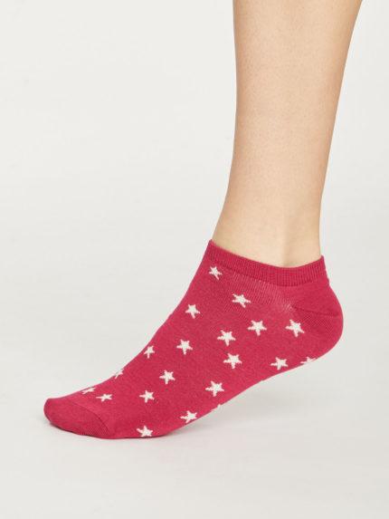 Thought dámské nízké ponožky starry červené