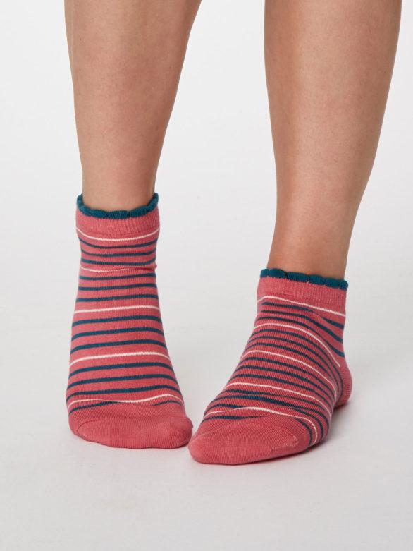 Thought dámské kotníkové ponožky lorraine růžové