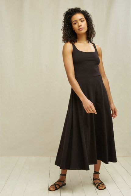 People Tree Šaty z bio bavlny tyra černé