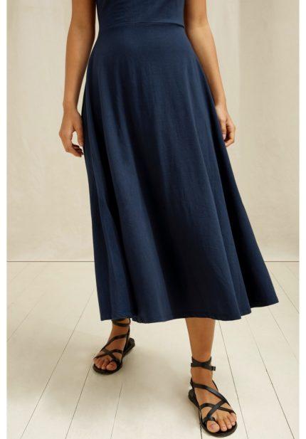 People Tree Šaty z bio bavlny tyra modré