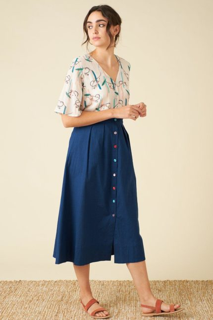 Emily and Fin sukně se lnem brianna ink
