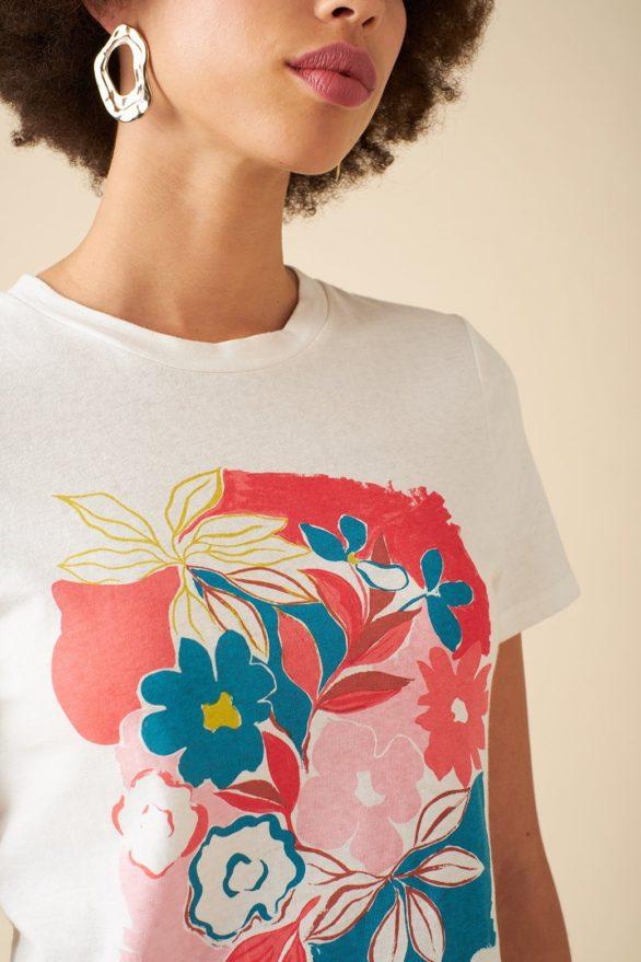 Emily and Fin tričko se lnem asilah floral