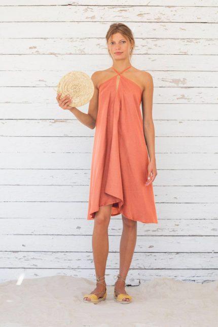 Suite13 krátké tencelové variabilní šaty ginger