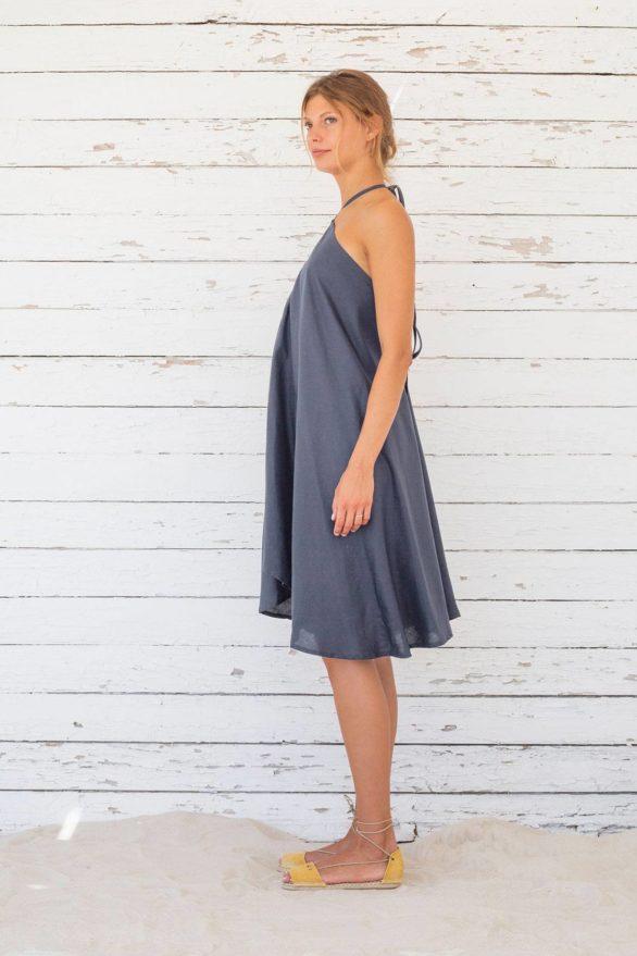 Suite13 krátké tencelové variabilní šaty ink blue