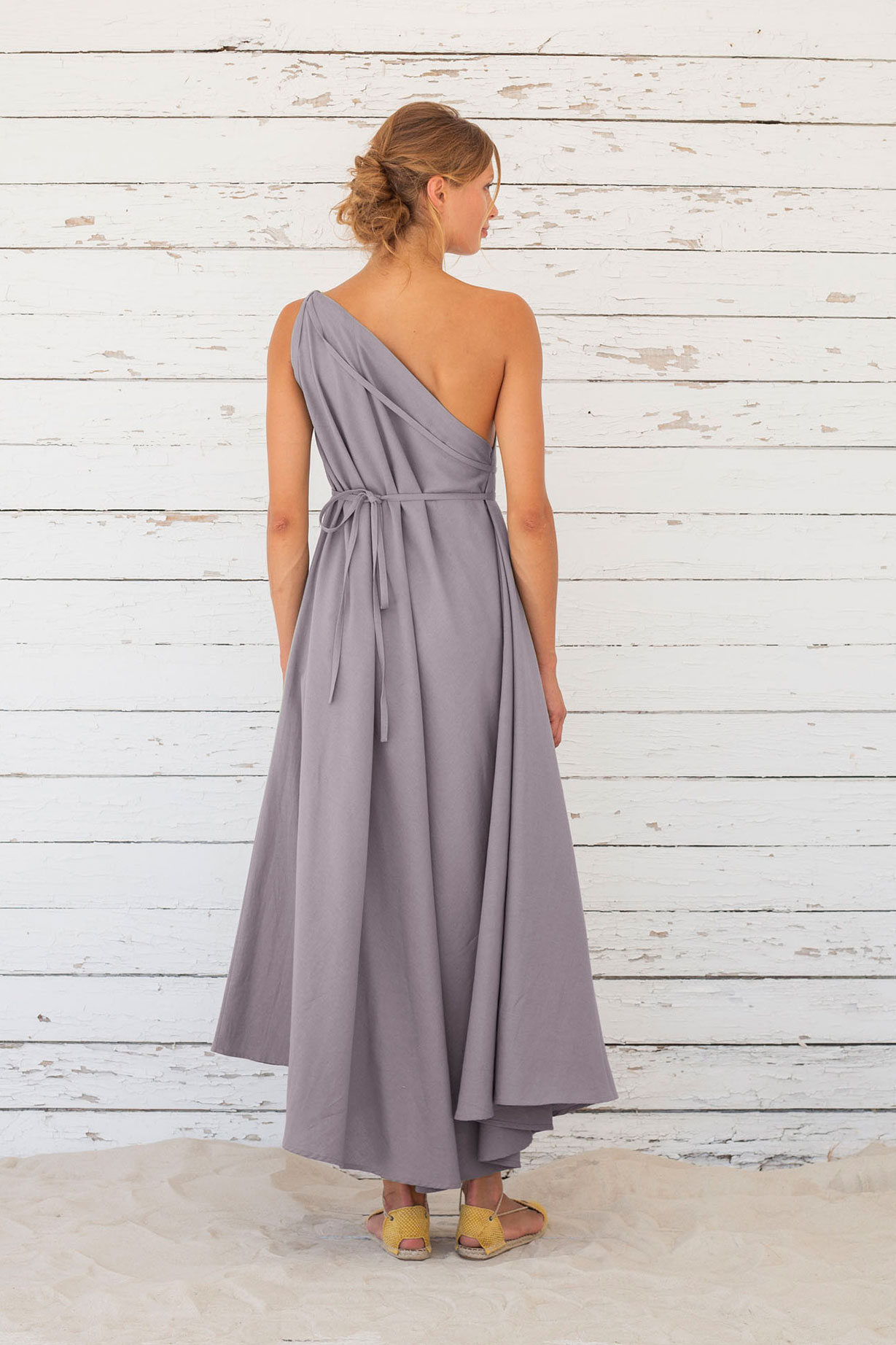 Suite13 dlouhé variabilní šaty se lnem excalibur
