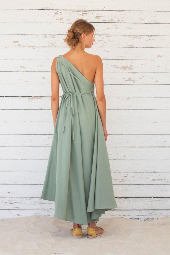 Suite13 dlouhé variabilní šaty se lnem iceberg