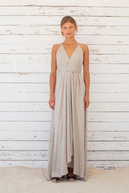 Suite13 dlouhé variabilní šaty stripe