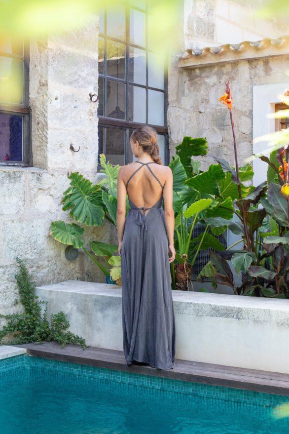 Suite13 dlouhé tencelové variabilní šaty ink blue