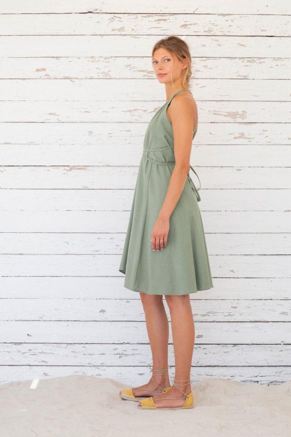 Suite13 krátké variabilní šaty se lnem iceberg