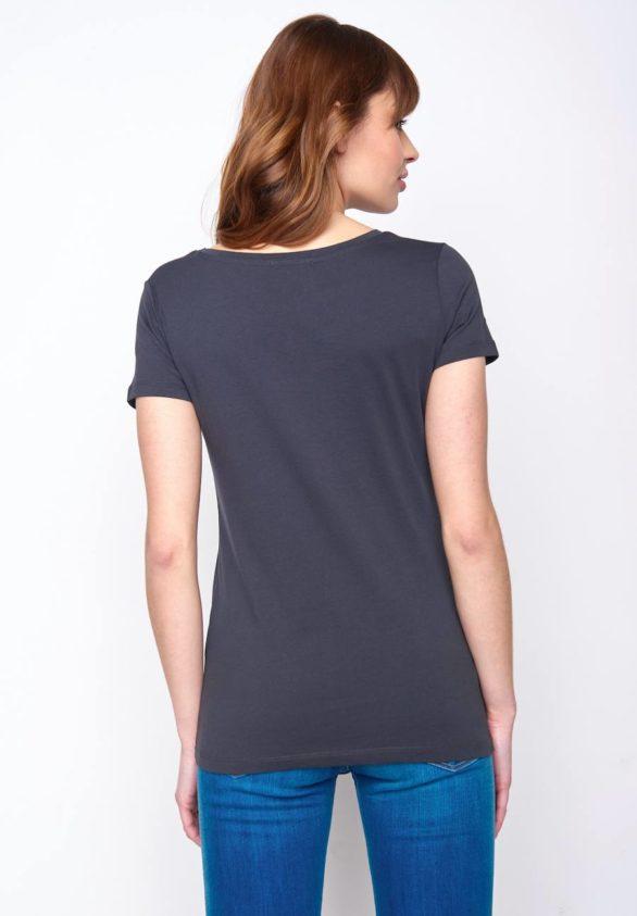 Greenbomb dámské tričko birds line šedé