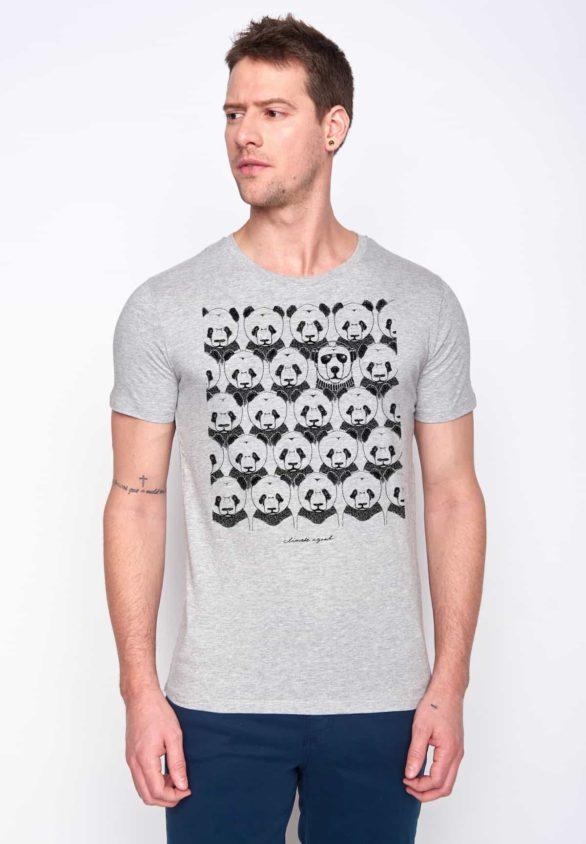 Greenbomb tričko climate agnet šedé