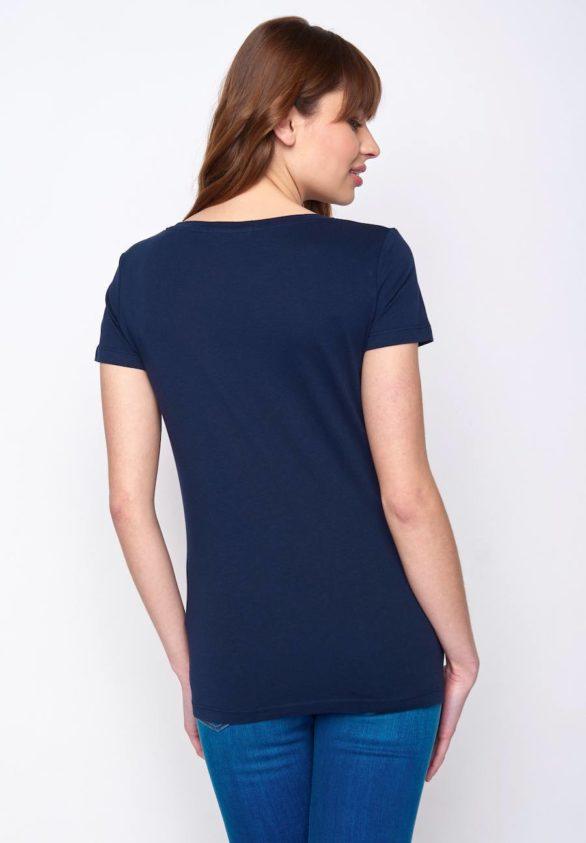 Greenbomb dámské tričko penguin family modré