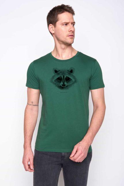 Greenbomb tričko racoon zelené