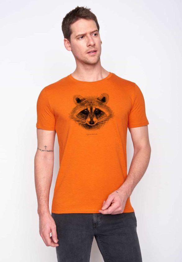 Greenbomb tričko racoon oranžové