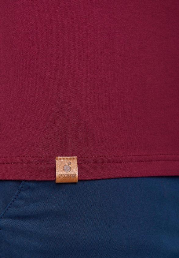 Greenbomb tričko peak bordó