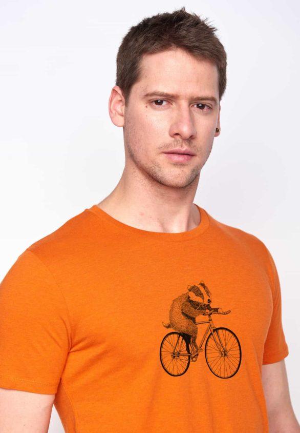Greenbomb tričko bike badger oranžové