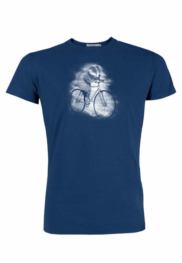 Greenbomb tričko bike badger modré
