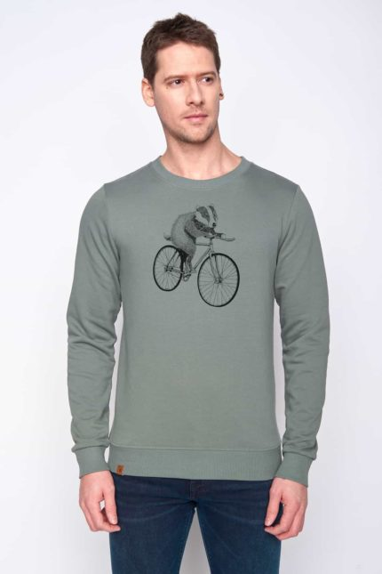 Greenbomb mikina bike badger zelená