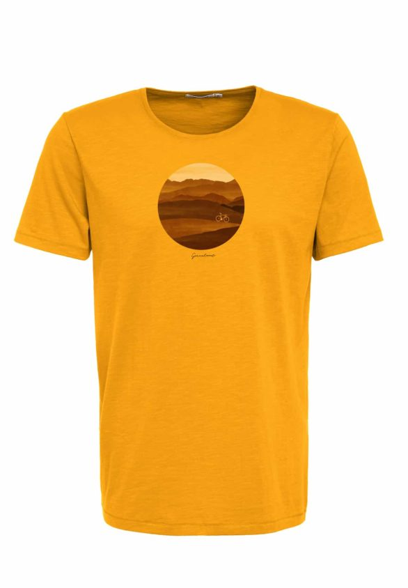 Greenbomb tričko bike hills spice žluté