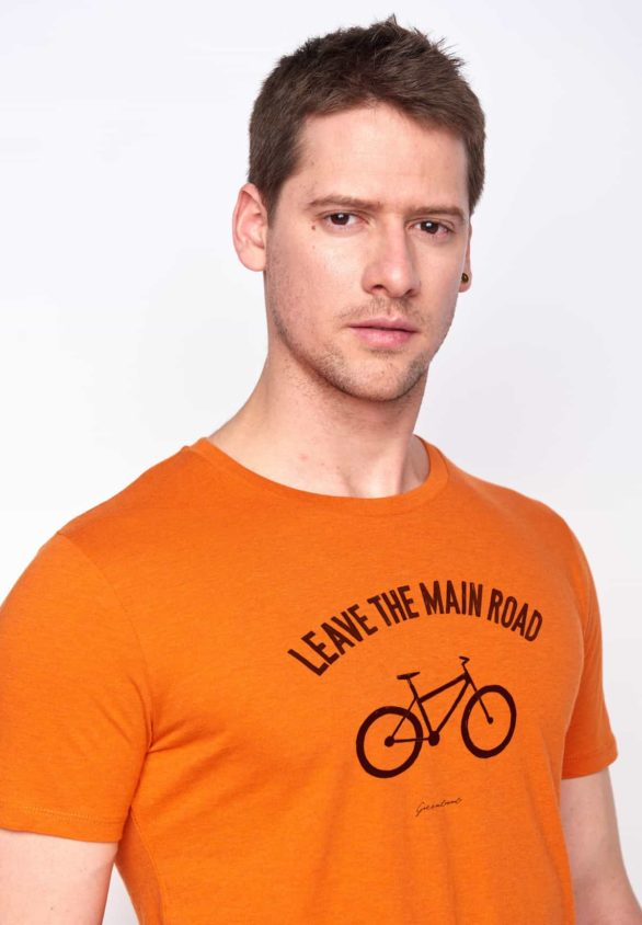 Greenbomb tričko bike leave road oranžové