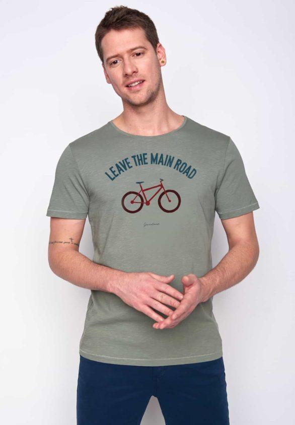 Greenbomb tričko bike leave road zelené