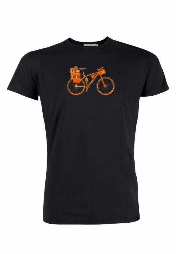 Greenbomb tričko bike nomad černé