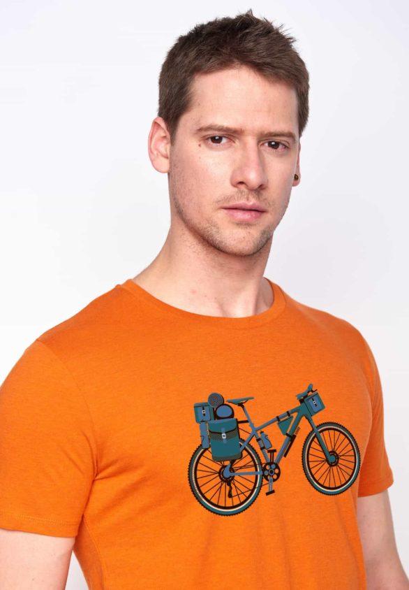 Greenbomb tričko bike nomad oranžové
