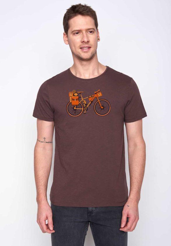 Greenbomb tričko bike nomad hnědé