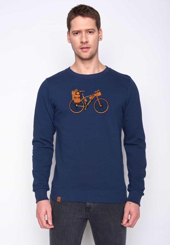 Greenbomb mikina bike nomad modrá