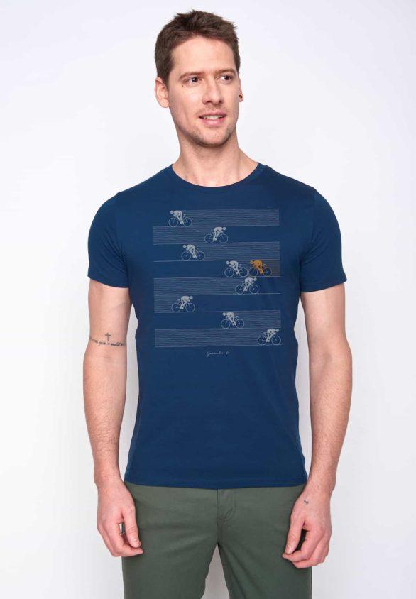 Greenbomb tričko bike racer modré