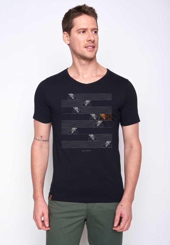 Greenbomb tričko bike racer černé