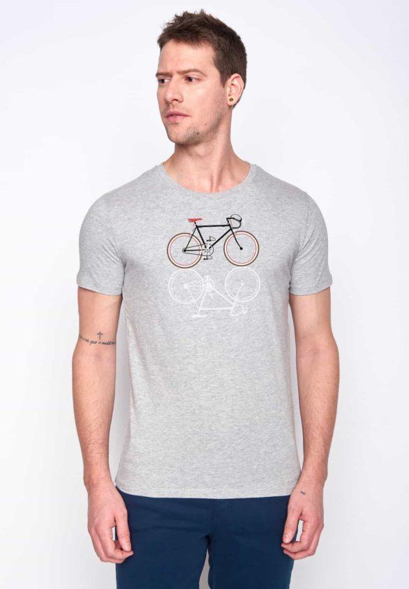 Greenbomb tričko bike shape šedé