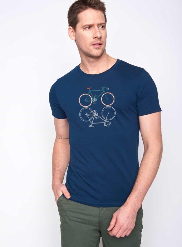 Greenbomb tričko bike shape modré