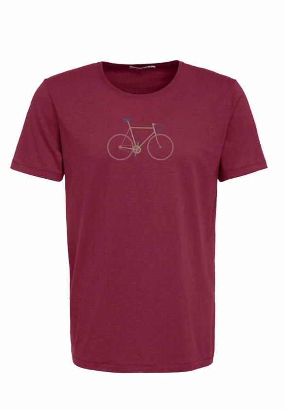 Greenbomb tričko bike trip bordó