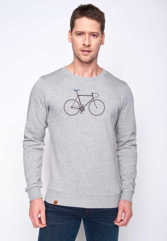Greenbomb mikina bike trip šedá