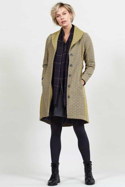 Nomads kabát s límcem lemongrass