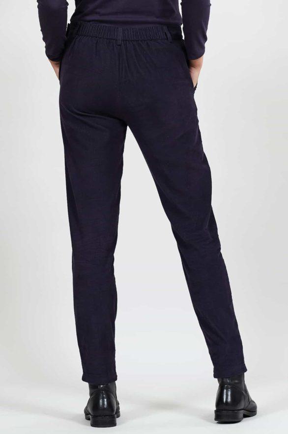 Nomads manšestrové slim kalhoty fialové