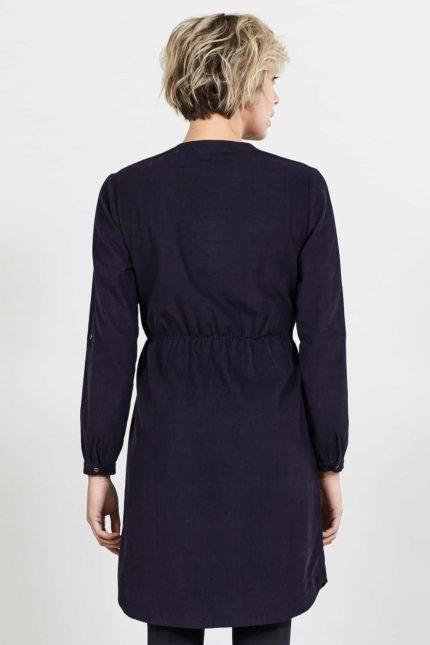 Nomads manšestrové šaty cord aubergine