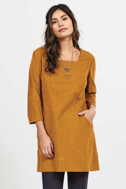 Nomads manšestrové tunikové šaty spice