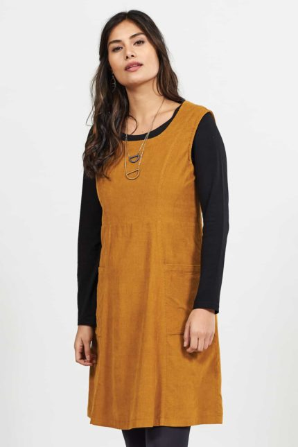 Nomads manšestrové pinafore šaty spice