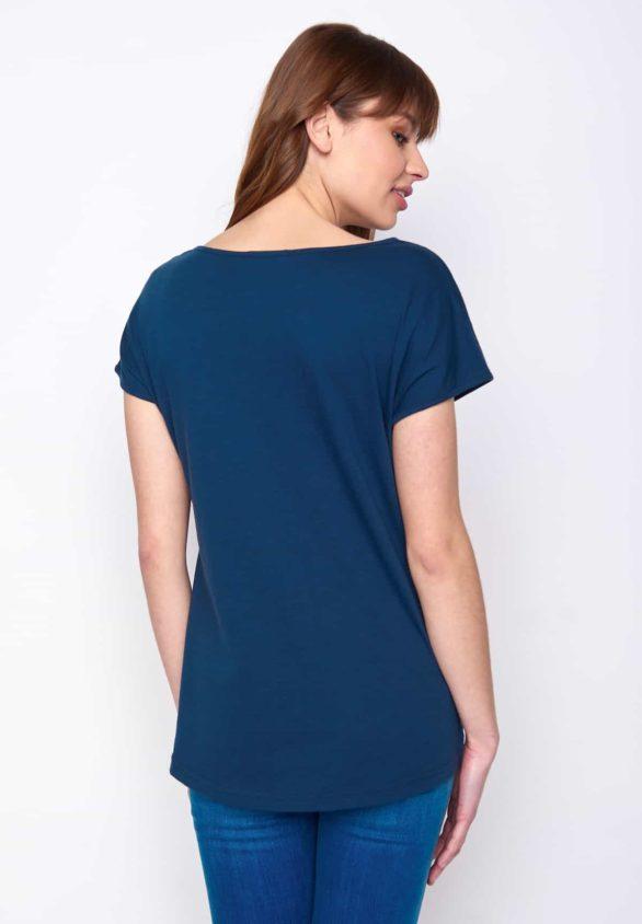 Greenbomb dámské tričko forest fox modré