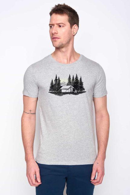 Greenbomb tričko forest tent šedé